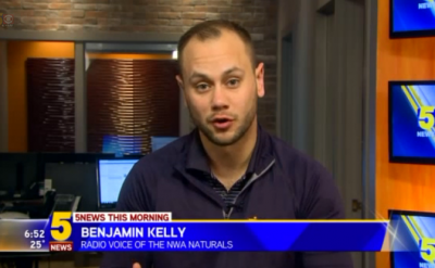 Benjamin Kelly '13, voice of Northwest Arkansas Naturals, discusses the Royals' World Series title – KFSM