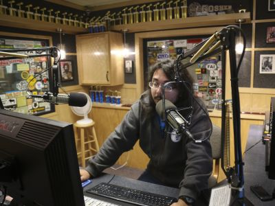 Victor Garcia on air at 91.1 The Globe.