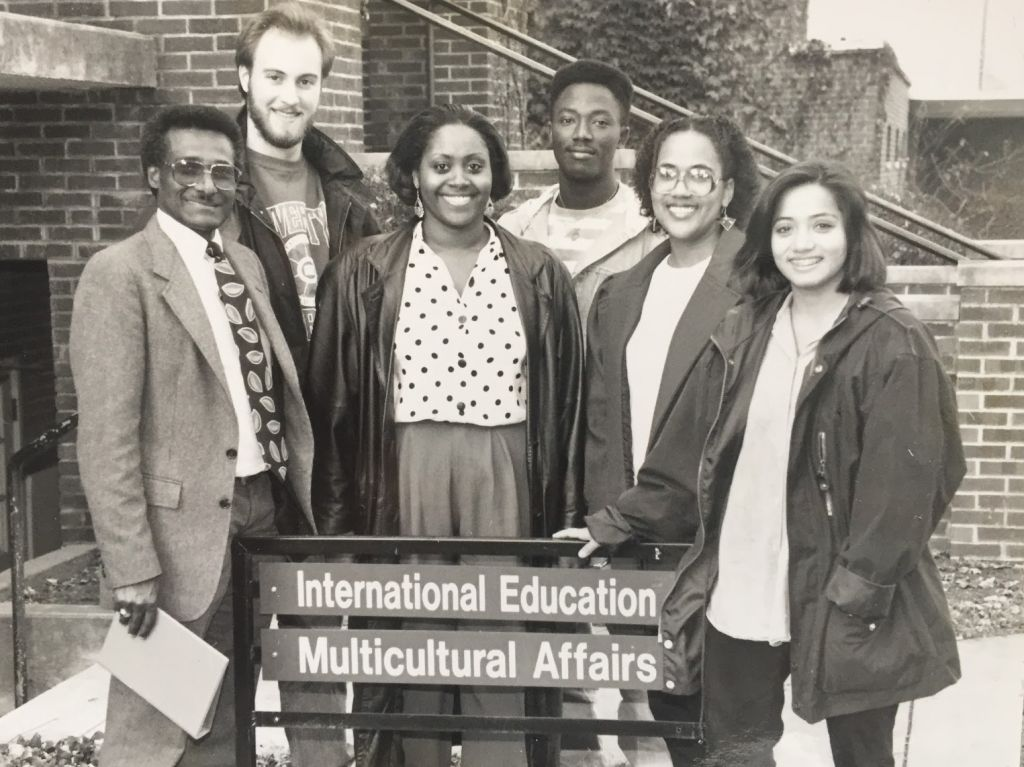 Multicultural affairs staff: Zenebe Abebe, Chris Waltner, Ian Walker, Smith Fleurantin, Enid Rodriguez, Shanti DeFehr (Photo: John D. Yoder)