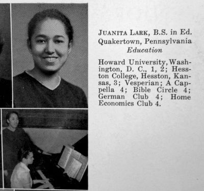 Juanita Lark's entry from the 1943 Maple Leaf yearbook.