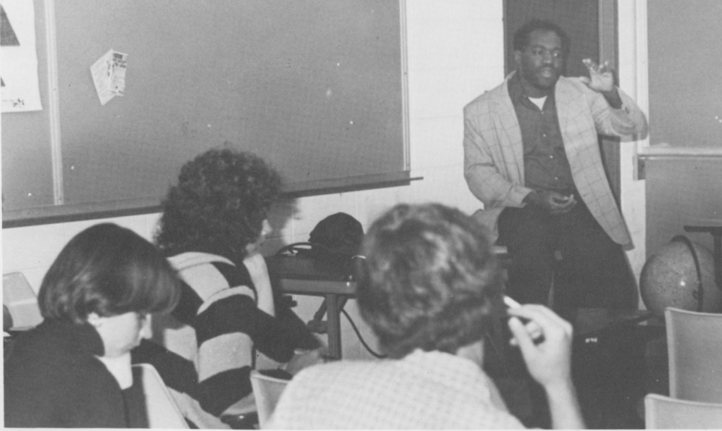 Lee Roy Berry picture in the Goshen College Maple Leaf.
