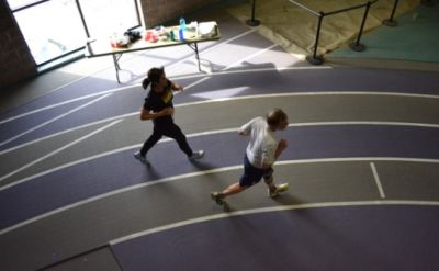Wacky indoor endurance event draws enthusiasts to Goshen