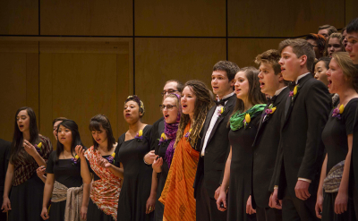 GC choirs perform 'songs from many cultures' at annual EARTHTONES concert