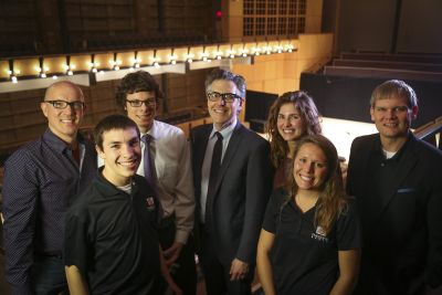 From left: David Kendall, Jake Smucker, JD Hershberger, Ira Glass, Elizabeth Destine, Carly Wyse, Kyle Hufford