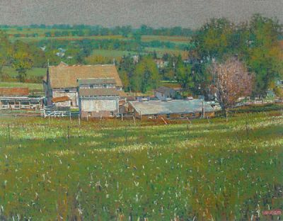 """Jonas Schlabach Farm,"" Charm, Ohio, 2016, 27"" x 32"""