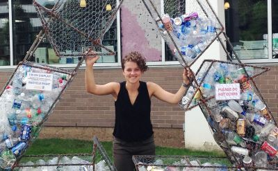 Sam Weaver '15 : Recycling sculpture drives home a message – Pittsburgh Post-Gazette