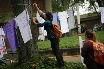 The annual Clothesline Project is a visual reminder on campus that raises awareness about sexual violence in the community.