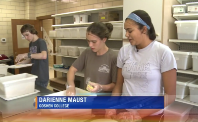 Goshen College students volunteer for 'Service Day' – WNDU