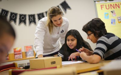 GC students teach Goshen middle schoolers how to code with Google grant