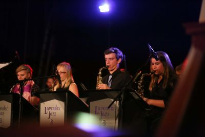 Lavender Jazz performs at downtown Goshen's First Friday event in October.