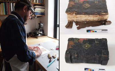 Jeff Peachey '88 restores rare 1564 Ausbund for Mennonite Historical Library
