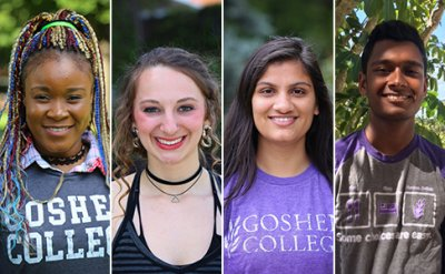 Four students' head shots- three females and one male