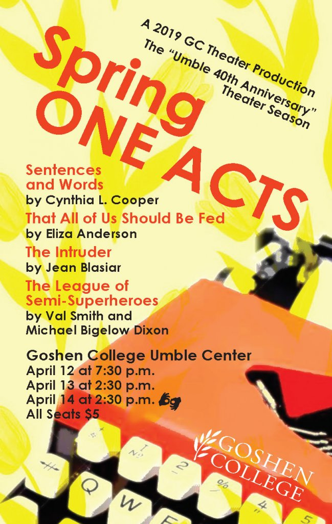 'Spring One Acts' Poster