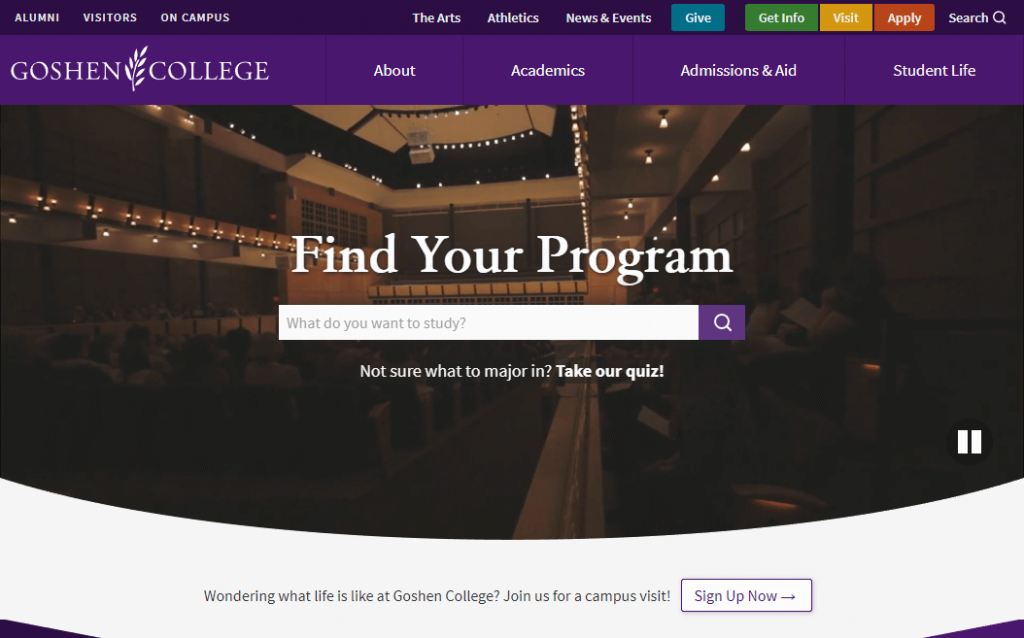Goshen College website