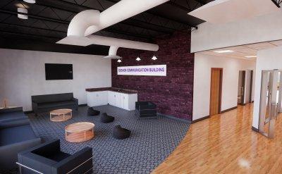 Goshen Communication Building lounge area