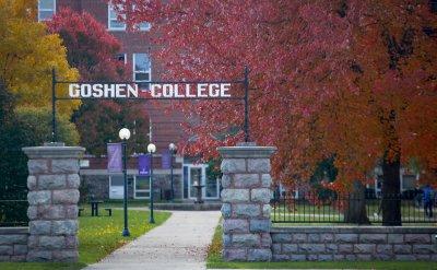 Goshen College entrance gate