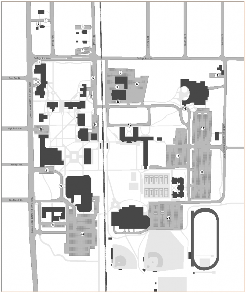On Campus Parking Goshen College Parallel Park Diagram Unrestricted Except For Yellow Curbs