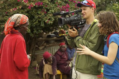 Elizabeth & David interviewing the women at a farm in Ndeiya
