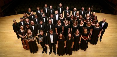 2019 Goshen College Chamber Choir and Orchestra.