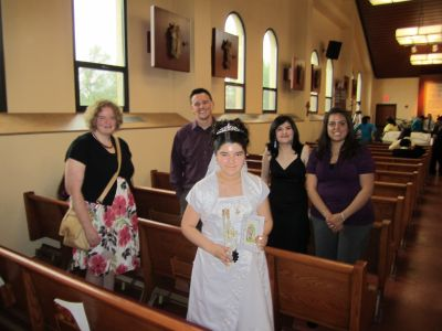 First Communions in Nuestra Senora de Guadalupe Parish