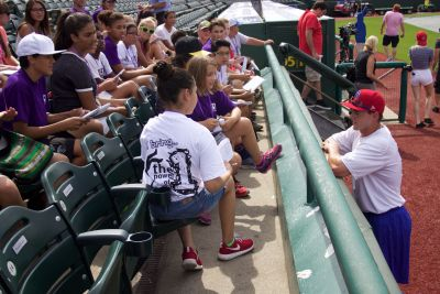 Write on Sports Campers Interview Cubs (and Clean the Bases)