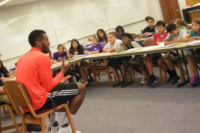 Before Heading to Courts in Australia, Jamerson Pays a Visit to Goshen Write on Sports