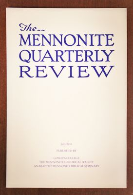 Mennonite Quarterly Review cover